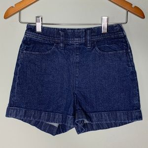 J. Crew Denim Shorts Side Zip Indigo Cotton